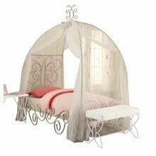 ACME Priya II Twin Bed w/Canopy - 30530T - White & Light Purple