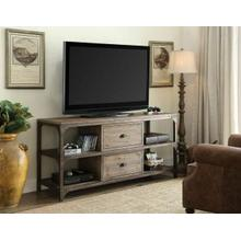 ACME Gorden TV Stand - 91504 - Weathered Oak & Antique Silver