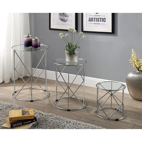 Furniture of America - Madyson 3 Pc. Nesting Table