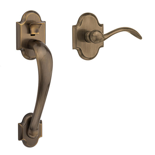 Baldwin - Satin Brass and Black Boulder Handle Grip Sectional