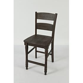 See Details - Madison County Ladderback Counter Stool - Barnwood