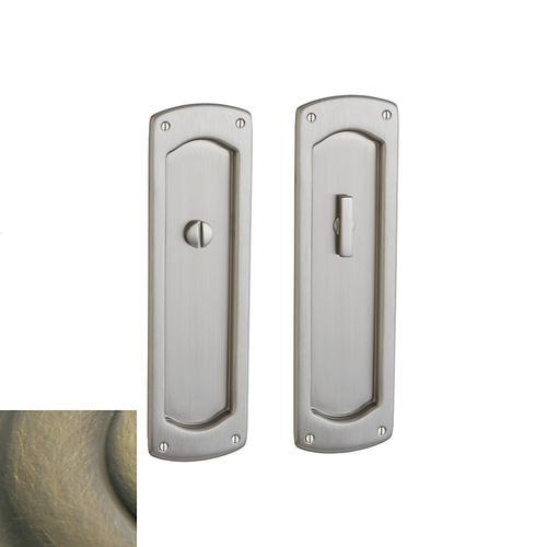 Baldwin - Satin Brass and Black PD007 Palo Alto Pocket Door