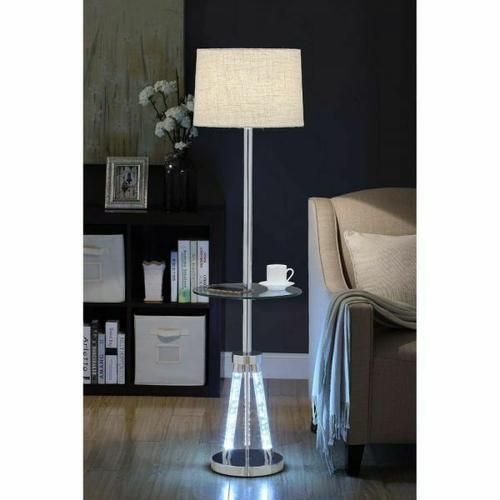 ACME Cici Floor Lamp - 40125 - Chrome