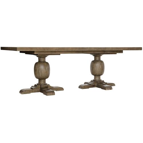Rustic Patina Rectangular Dining Table in Peppercorn (387)