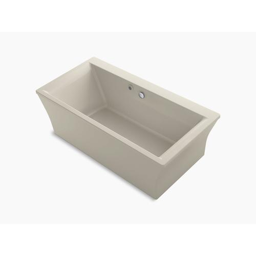 """Biscuit 60"""" X 34"""" Freestanding Bath With Bask Heated Surface and Fluted Shroud"""