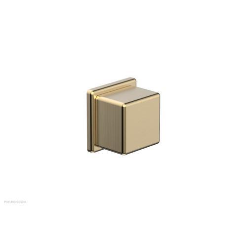 MIX Volume Control/Diverter Trim - Cube Handle 290-38 - Satin Brass