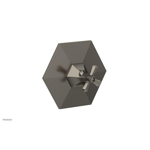 Phylrich - LE VERRE & LA CROSSE Thermostatic Shower Trim - Cross Handle TH171 - Pewter