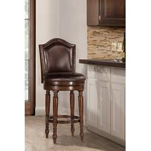 View Product - Barcelona Wood Counter Height Swivel Stool, Brown Cherry