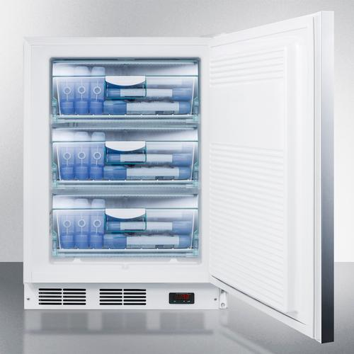 ADA Compliant Commercial All-freezer Capable of -25 C Operation, With Wrapped Stainless Steel Door, Horizontal Handle, and Lock