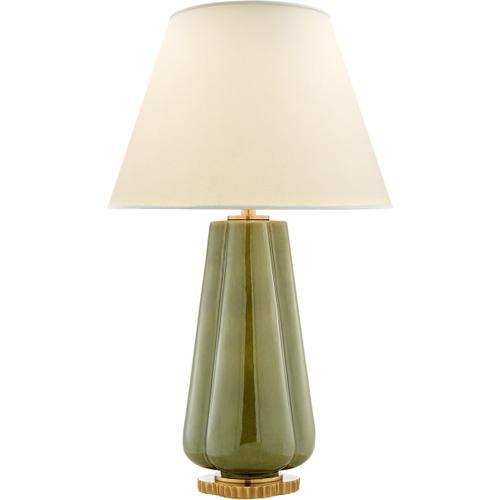 Alexa Hampton Penelope 30 inch 60.00 watt Green Porcelain Table Lamp Portable Light