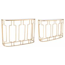Roma Console Tables Gold