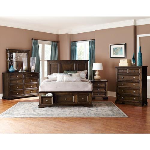 Homelegance - Full Platform Bed with Footboard Storage