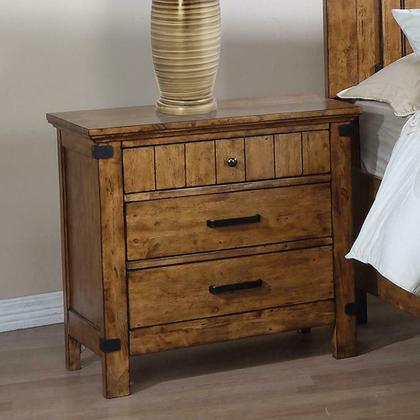 See Details - Brenner Rustic Honey Nightstand