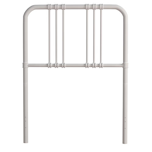 Dakota Twin Size Bed With Metal Frame, White