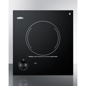 115v Single Burner Cooktop In Black Ceramic Glass, Made In Europe Product Image