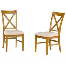 Lexi Dining Chairs Set of 2 with Oatmeal Cushion in Caramel Latte