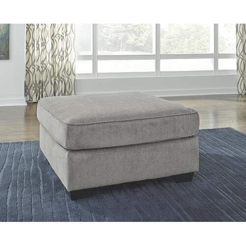 Altari Oversized Accent Ottoman Alloy