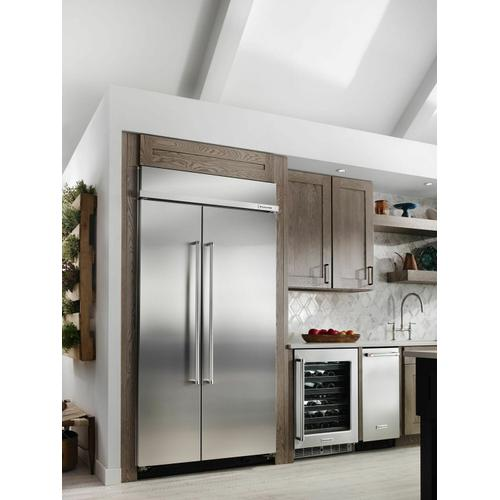KitchenAid - 25.5 cu. ft 42-Inch Width Built-In Side by Side Refrigerator with PrintShield™ Finish - Stainless Steel