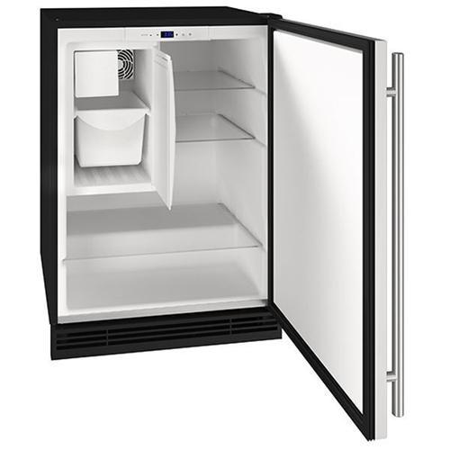 "U-Line - 24"" Refrigerator/ice Maker With Stainless Solid Finish (115 V/60 Hz Volts /60 Hz Hz)"