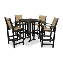 Black & Burlap Coastal 5-Piece Bar Set
