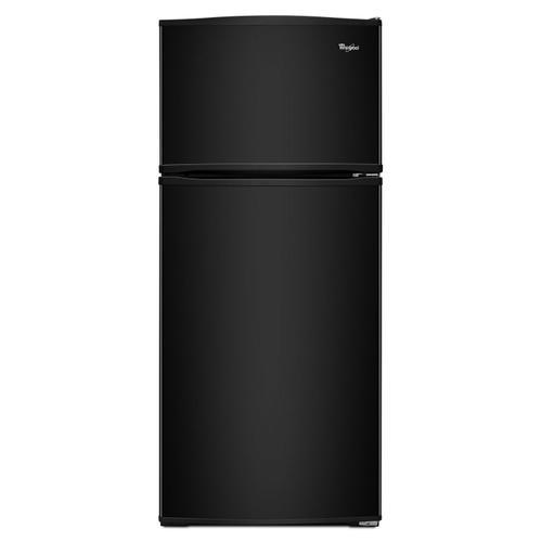Whirlpool - 28-inch Wide Top Freezer Refrigerator - 16 cu. ft. Black