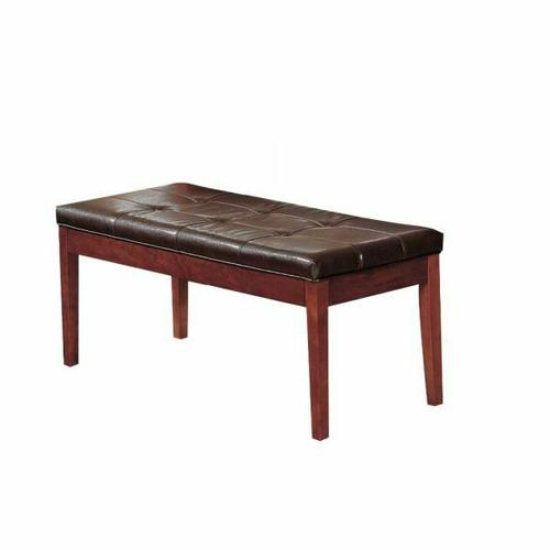 ACME Bologna Bench - 07056 - Espresso PU & Brown Cherry