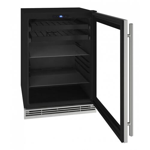 "Hbv124 24"" Beverage Center With Stainless Frame Finish (115v/60 Hz Volts /60 Hz Hz)"
