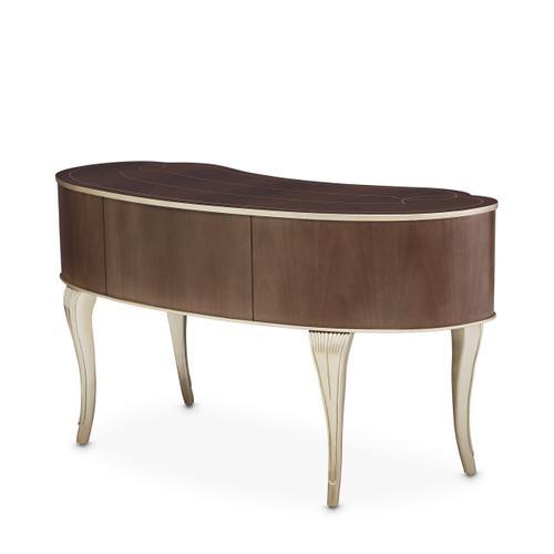 Vanity Desk Mirror & Chair 3 PC