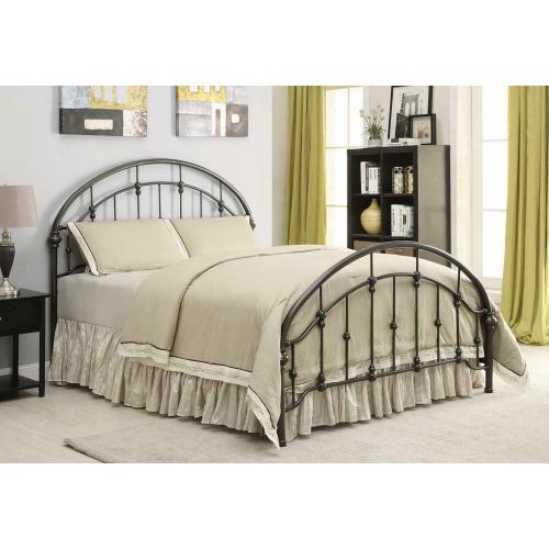 Maywood Transitional Black Metal Queen Bed
