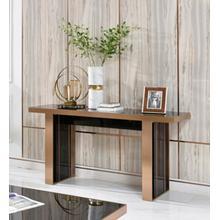 See Details - Nova Domus Cartier Modern Black & Rosegold Console Table
