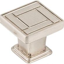 """View Product - 1-1/8"""" Overall Length Satin Nickel Art Deco Rochester Cabinet Knob"""