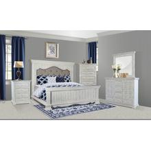 Charleston White King Bed 4PC Set
