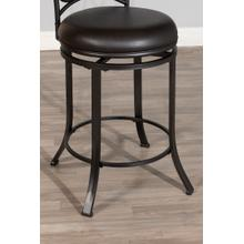 Trevelian Swivel Bar Height Stool, Dark Coffee