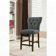 ACME Effie Counter Height Chair (Set-2) - 71528 - Gray Linen & Walnut