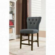 ACME Effie Counter Height Chair (Set-2) - 71528 - Gray Linen & Walnut