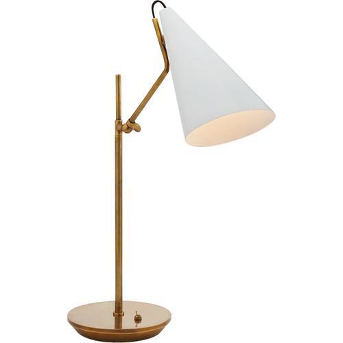 AERIN Clemente 21 inch 60 watt Plaster White Table Lamp Portable Light