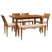 Cosgrove Brown 6 Piece Dining Group