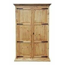 See Details - Natural Armoire W/hideaway Bed
