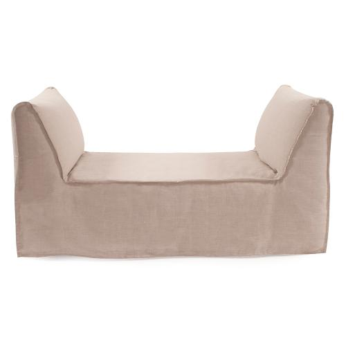 Pod Bench Cover Linen Slub Natural (Cover Only)
