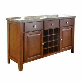 ACME Bologna Server - 07047 - Brown Marble & Brown Cherry