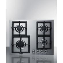 """See Details - 24"""" Wide 4-burner Propane Gas Cooktop In Stainless Steel"""