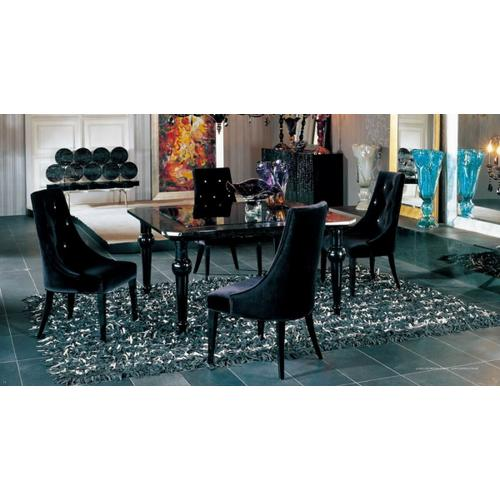 Gallery - A&X Charlotte - Black Velour Dining Chair (Set of 2)