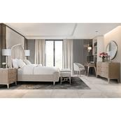 Cal King Curved Panel Bed (3 Pc)