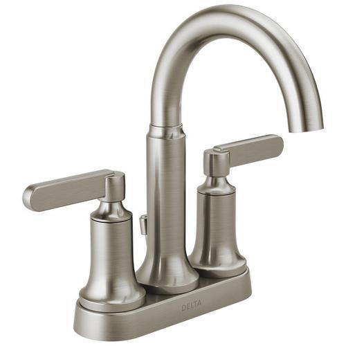 Spotshield Brushed Nickel Two Handle Centerset Bathroom Faucet
