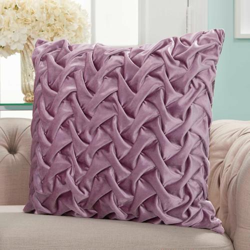 "Life Styles L0064 Lavender 22"" X 22"" Throw Pillow"