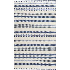 Viking Stripe Alabaster Lapis Hand Knotted Rugs