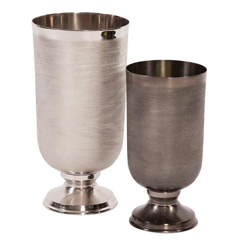 Howard Elliott - Textured Silver Metal Chalice Vase, Large