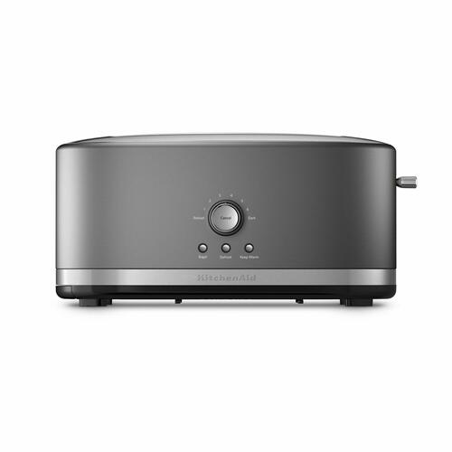 KitchenAid - 4-Slice Long Slot Toaster with High Lift Lever - Contour Silver