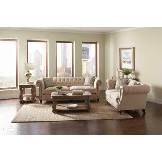 Trivellato Traditional Oatmeal Two-piece Living Room Set