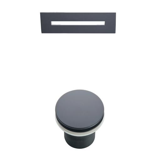 """Malinda 65"""" Acrylic Slipper Tub with Integral Drain and Overflow - Matte Black Drain and Overflow"""